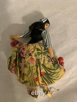 Vintage Layna Doll Lot Of 3 Made In Spain With Tags Cloth Ethnic Spanish Doll