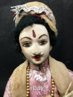 Vintage Old Hand Rajsthani Hand Made Male is a Groom Dulha Ethnic Cloth Doll