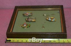 Vintage Oriental Frame With 6 Figures Dressed In Traditional Clothing
