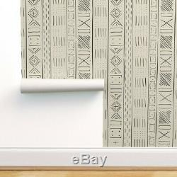 Wallpaper Roll Mud Cloth Ethnic Modern Native Line Autumn African 24in x 27ft